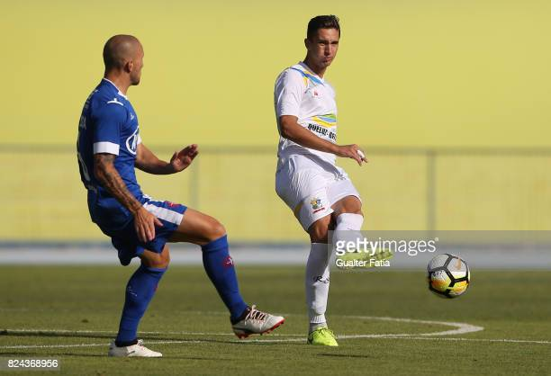 Real SC defender Dmytro Lytvyn from Ukraine in action during the League Cup match between CF Os Belenenses and Real SC at Estadio do Restelo on July...