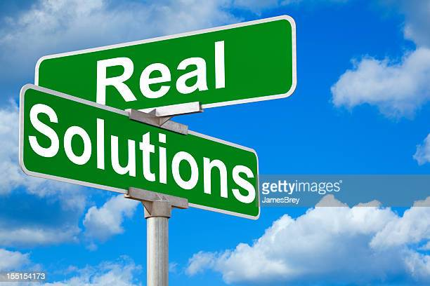 Real Solutions Street Intersection Sign