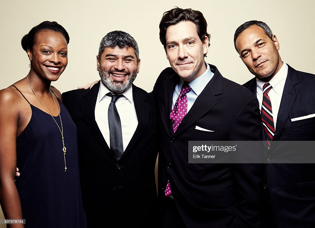 'Real Sports with Bryant Gumbel The Killing Fields' producers Chapman Downes David Scott and others pose for a portrait at the 75th Annual Peabody...