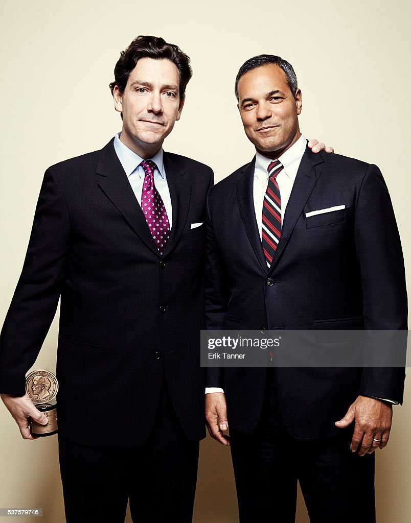 'Real Sports with Bryant Gumbel The Killing Fields' producers Chapman Downes and David Scott pose for a portrait at the 75th Annual Peabody Awards...