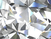 Realistic diamond texture close up, 3D illustration.