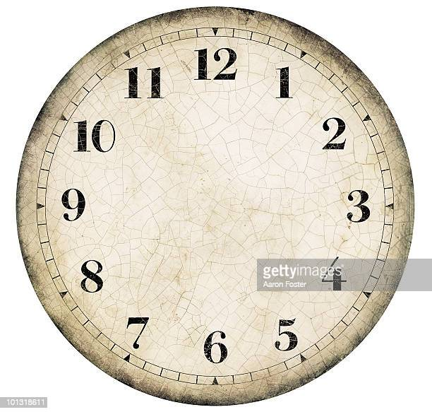 Realistic Old French Clock Face