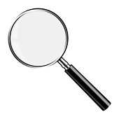 Realistic Vector Magnifying Glass Lupe