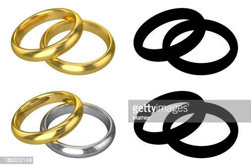 Wedding rings symbol  Realistic Wedding Rings Isolated Stock Photo | Thinkstock