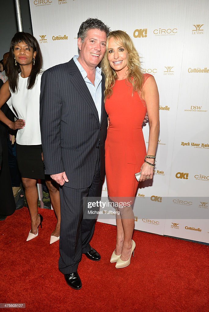 Reality actress <a gi-track='captionPersonalityLinkClicked' href=/galleries/search?phrase=Taylor+Armstrong&family=editorial&specificpeople=6903739 ng-click='$event.stopPropagation()'>Taylor Armstrong</a> and fiance John Bluher attends OK! Magazine's Pre-Oscar Party at Greystone Manor Supperclub on February 27, 2014 in West Hollywood, California.