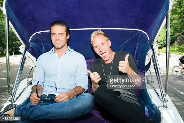 Reality personalities Jamie Laing and Spencer Matthews are photographed for on June 26 2014 in New York City