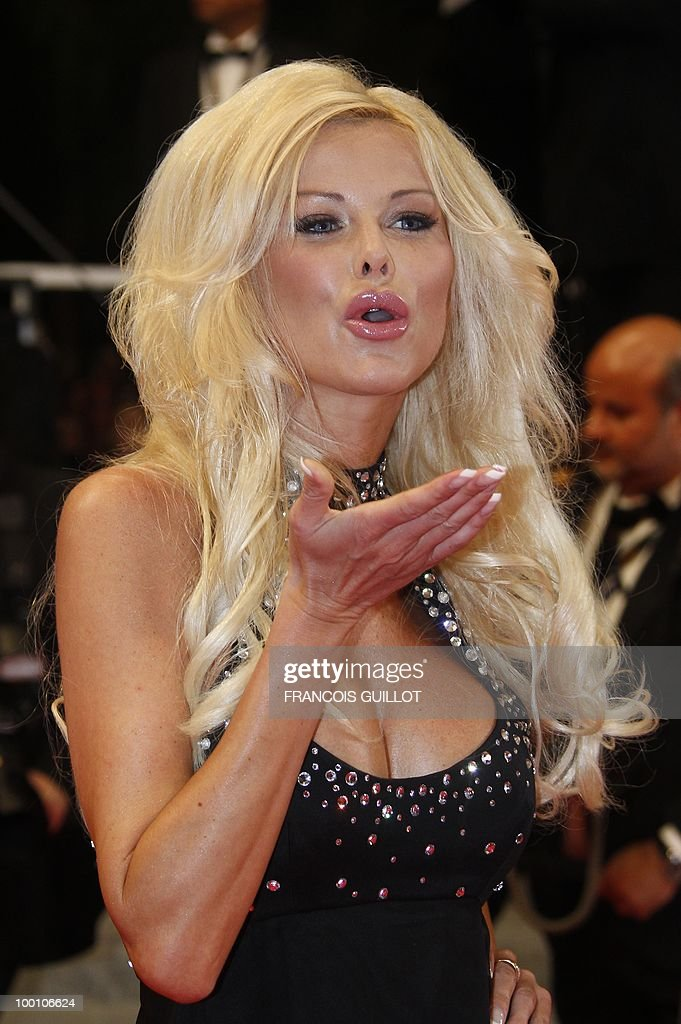 Reality show participant Angie arrives for the screening of 'La Nostra Vita' (Our Life) presented in competition at the 63rd Cannes Film Festival on May 20, 2010 in Cannes.