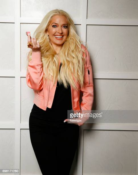 SYDNEY NSW Reality show star Erika Jayne from 'The Real Housewives of Beverley Hills' poses during a photo shoot in Sydney New South Wales