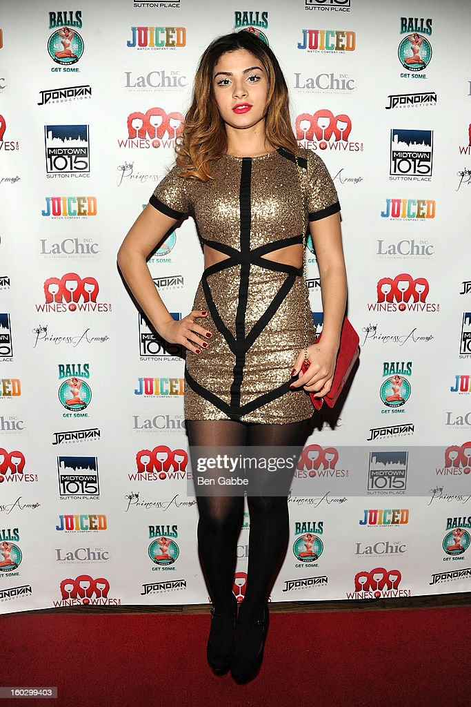 Reality Star Christina Salgado attends 'Jerseylicious' Season 5 Premiere Party at Midtown Sutton on January 28, 2013 in New York City.