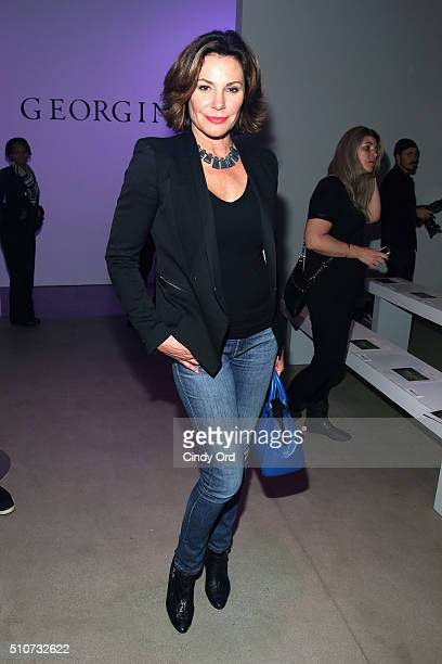 Reality star Countress Luann de Lesseps attends the Georgine Fall 2016 fashion show during New York Fashion Week The Shows at The Gallery Skylight at...