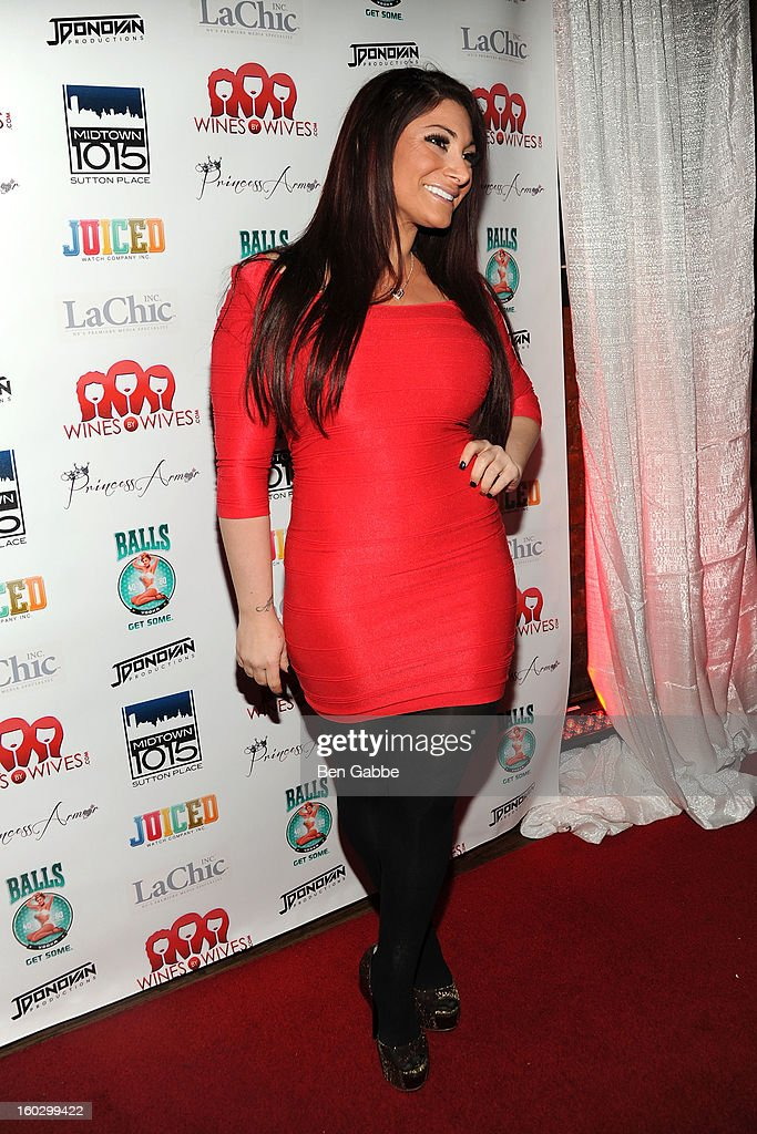 Reality Star Deena Cortese attends 'Jerseylicious' Season 5 Premiere Party at Midtown Sutton on January 28, 2013 in New York City.
