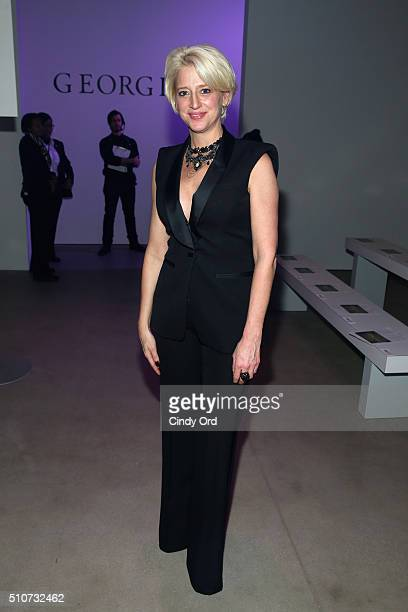 Reality star Dorinda Medley attends the Georgine Fall 2016 fashion show during New York Fashion Week The Shows at The Gallery Skylight at Clarkson Sq...