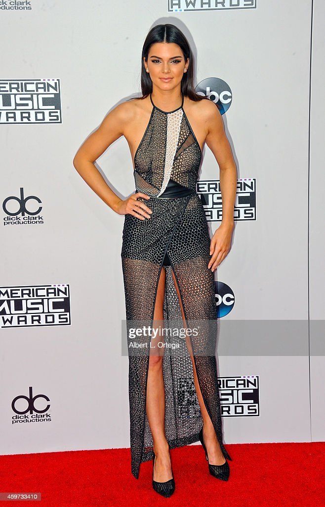 Reality star Kendall Jenner arrives for the 42nd Annual American Music Awards held at Nokia Theatre L.A. Live on November 23, 2014 in Los Angeles, California.