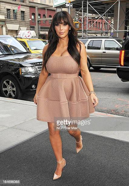 Reality Star Kim Kardashian as seen on March 26 2013 in New York City