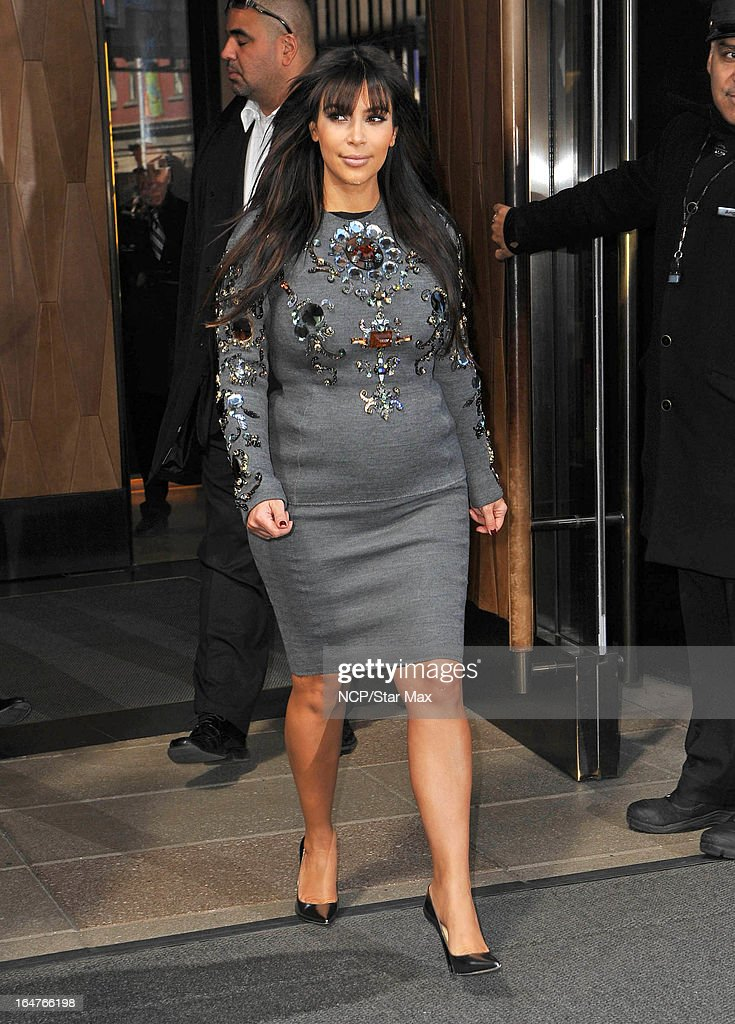Reality Star Kim Kardashian as seen on March 26, 2013 in New York City.