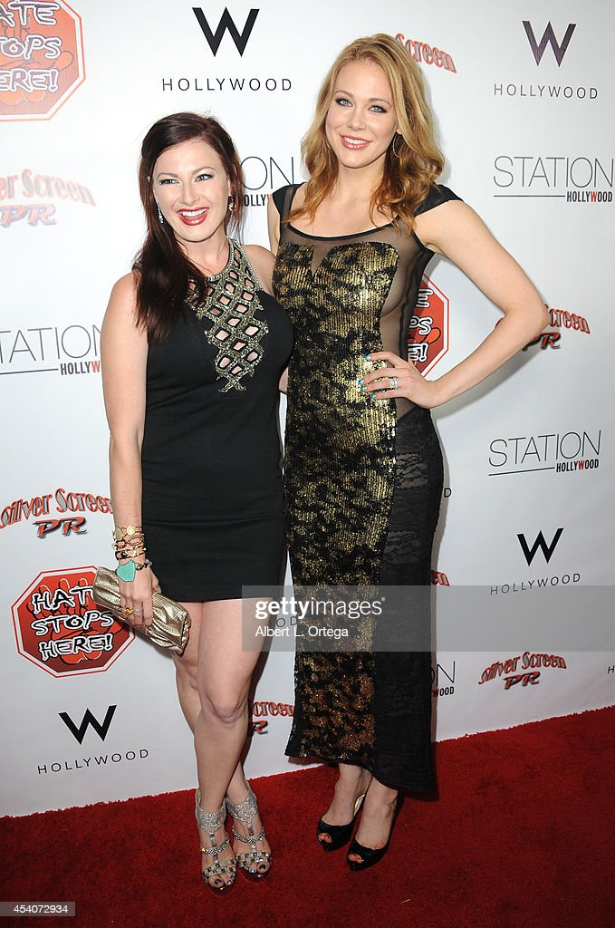 Reality star Rachel Reilly of 'Big Brother' and actress Maitland Ward arrive at W Hotel Station Club's Annual Emmy Party held at W Hollywood on August 23, 2014 in Hollywood, California.