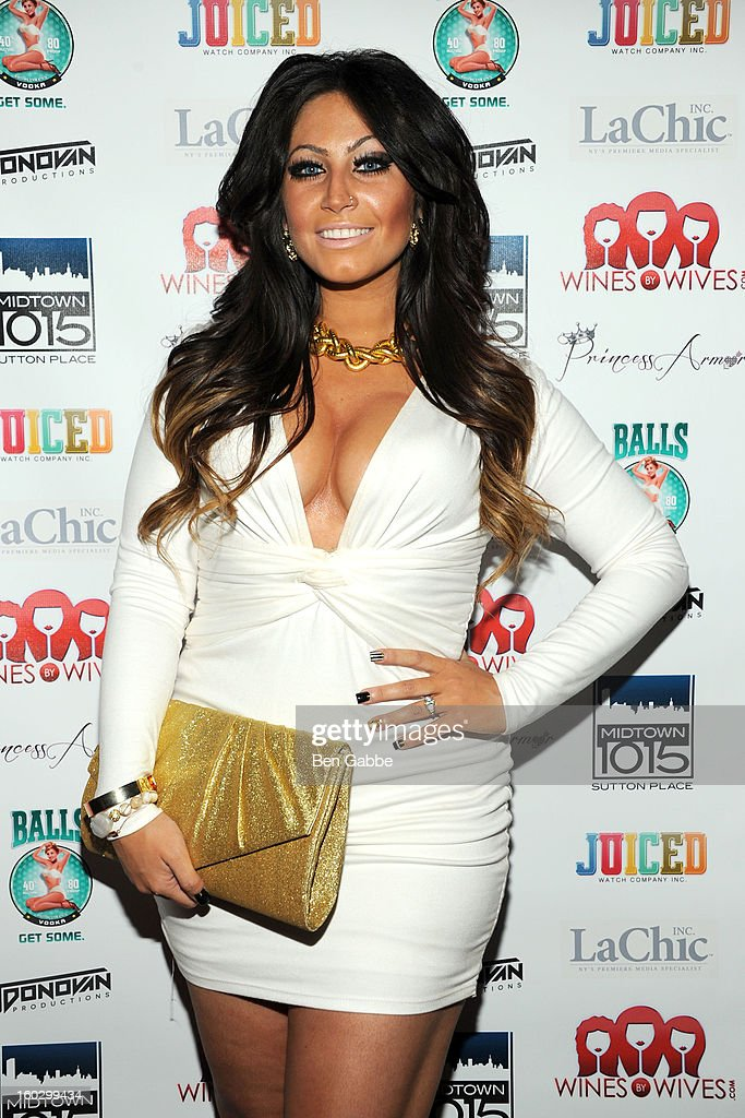 Reality Star Tracy DiMarco attends 'Jerseylicious' Season 5 Premiere Party at Midtown Sutton on January 28, 2013 in New York City.