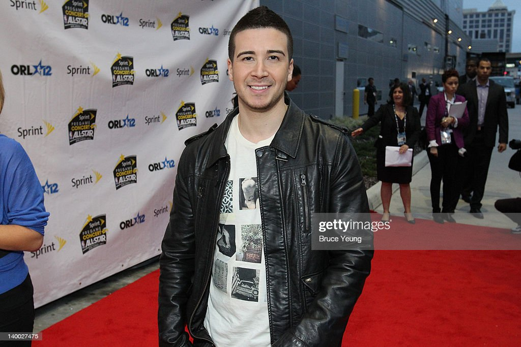 TV Reality Star Vinny Gaudagnino arrives prior to the 2012 NBA All-Star Game presented by Kia Motors as part of 2012 All-Star Weekend at the Amway Center on February 26, 2012 in Orlando, Florida.