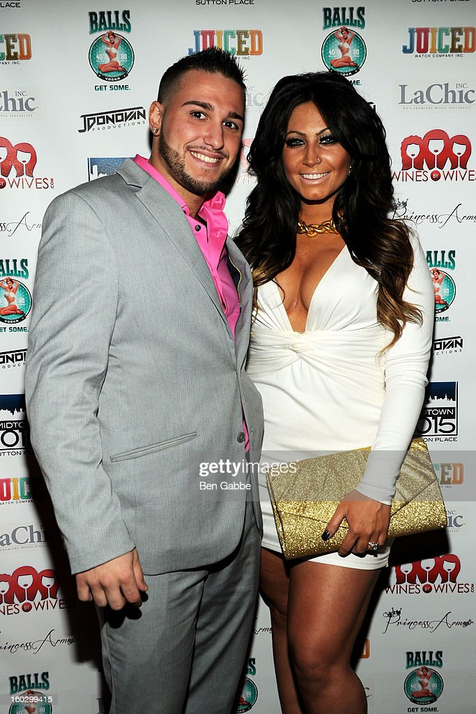 Reality Stars Corey Eps and <a gi-track='captionPersonalityLinkClicked' href=/galleries/search?phrase=Tracy+DiMarco&family=editorial&specificpeople=6851521 ng-click='$event.stopPropagation()'>Tracy DiMarco</a> attend 'Jerseylicious' Season 5 Premiere Party at Midtown Sutton on January 28, 2013 in New York City.
