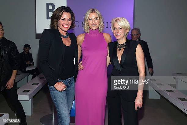 Reality stars Countress Luann de Lesseps Kristen Taekman and Dorinda Medley attend the Georgine Fall 2016 fashion show during New York Fashion Week...