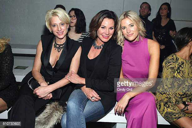 Reality stars Dorinda Medley Countress Luann de Lesseps and Kristen Taekman attend the Georgine Fall 2016 fashion show during New York Fashion Week...