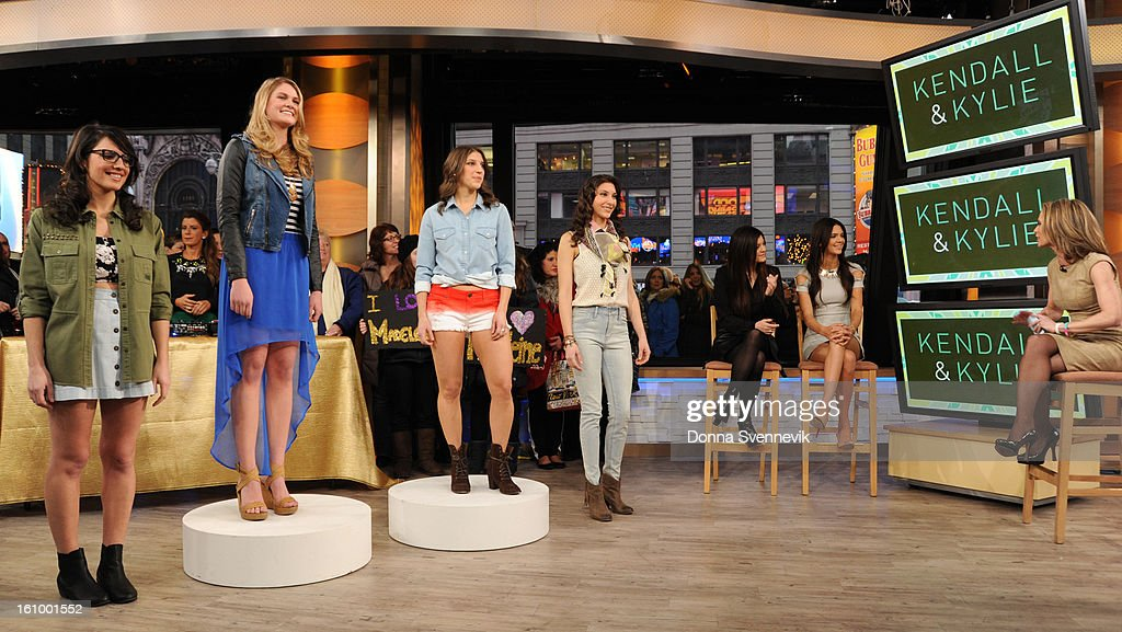 AMERICA - Reality stars Kendall and Kylie Jenner share hot spring trends for teens on 'Good Morning America,' 2/8/13, airing on the ABC Television Network. (Photo by Donna Svennevik/Disney-ABC via Getty Images)MODELS, KYLIE