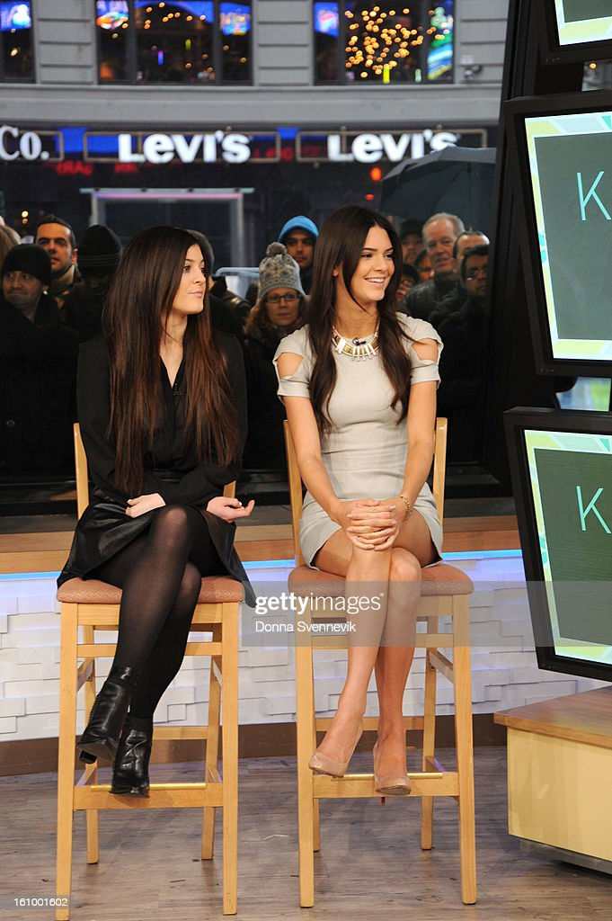 AMERICA - Reality stars Kendall and Kylie Jenner share hot spring trends for teens on 'Good Morning America,' 2/8/13, airing on the ABC Television Network. (Photo by Donna Svennevik/Disney-ABC via Getty Images)KYLIE JENNER, KENDALL JENNER