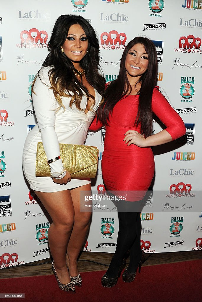 Reality Stars Tracy DiMarco and Deena Cortese attend 'Jerseylicious' Season 5 Premiere Party at Midtown Sutton on January 28, 2013 in New York City.
