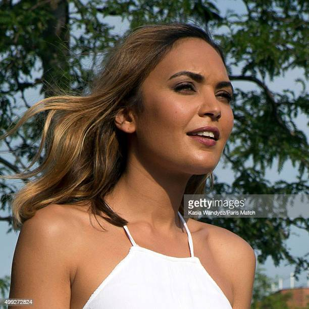 Reality television participant and beauty pageant titleholder who won Miss France 2008 Valerie Begue is photographed for Paris Match on July 2 2015...