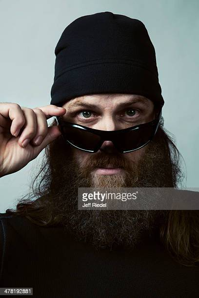 Reality television personalities from Duck Dynasty Jase Robertson is photographed for GQ Magazine on October 24 2013 in West Monroe Louisiana