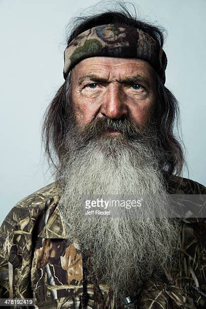 Reality television personalities from Duck Dynasty Phil Robertson is photographed for GQ Magazine on October 24 2013 in West Monroe Louisiana