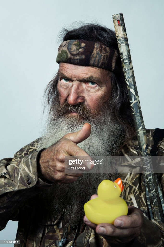 Reality television personalities from Duck Dynasty, <a gi-track='captionPersonalityLinkClicked' href=/galleries/search?phrase=Phil+Robertson&family=editorial&specificpeople=4043277 ng-click='$event.stopPropagation()'>Phil Robertson</a> is photographed for GQ Magazine on October 24, 2013 in West Monroe, Louisiana. PUBLISHED