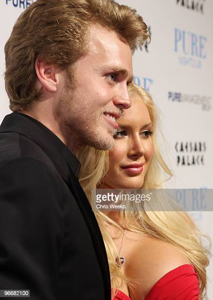 Reality television personalities Heidi Montag and Spencer Pratt attend Pure Nightclub on February 13 2010 in Las Vegas Nevada