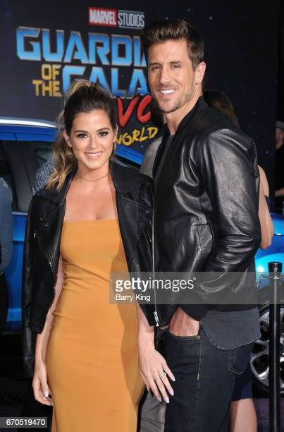 Reality Television personalities JoJo Fletcher and Jordan Rodgers attend world premiere of Disney and Marvel's' 'Guardians Of The Galaxy 2' at Dolby...