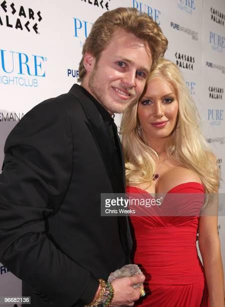 Reality television personalities Spencer Pratt and Heidi Montag attend Pure Nightclub on February 13 2010 in Las Vegas Nevada