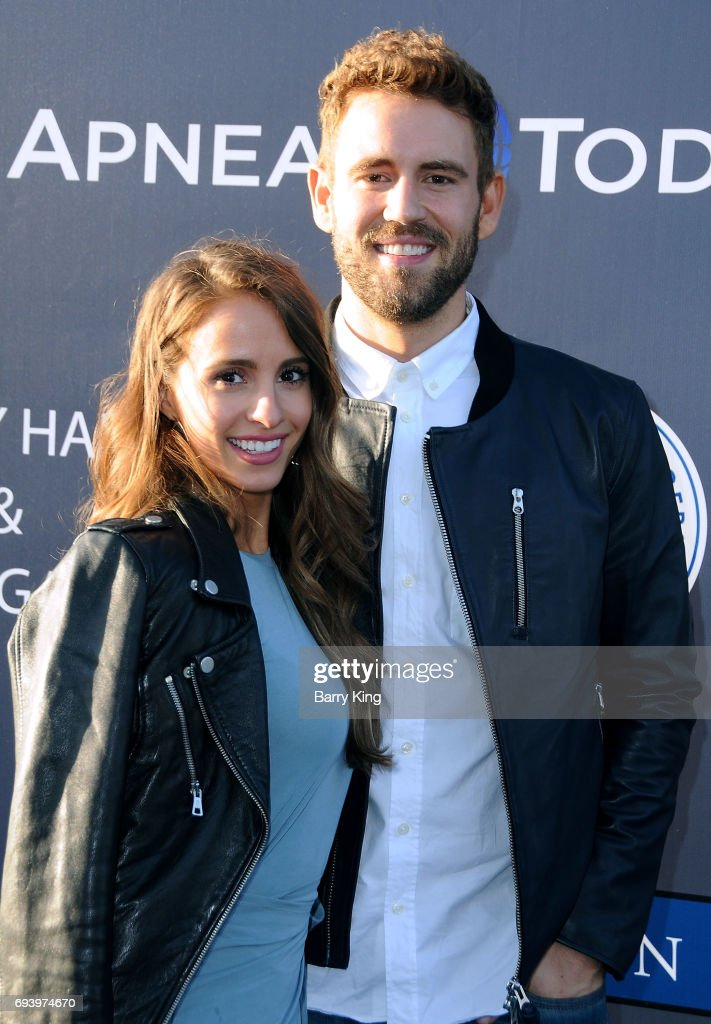 Reality Television personalities Vanessa Grimaldi and Nick Viall attend Los Angeles Dodgers Foundation's 3rd Annual Blue Diamond Gala at Dodger Stadium on June 8, 2017 in Los Angeles, California.