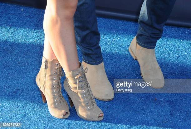 Reality Television personalities Vanessa Grimaldi and Nick Viall shoe detail attend Los Angeles Dodgers Foundation's 3rd Annual Blue Diamond Gala at...