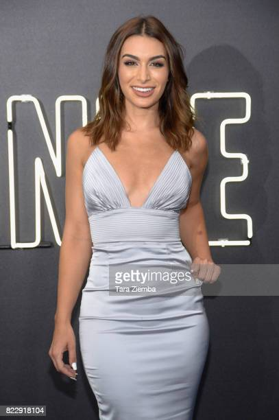 Reality television personality Ashley Laconetti attends the premiere of Focus Features' 'Atomic Blonde' at The Theatre at Ace Hotel on July 24 2017...