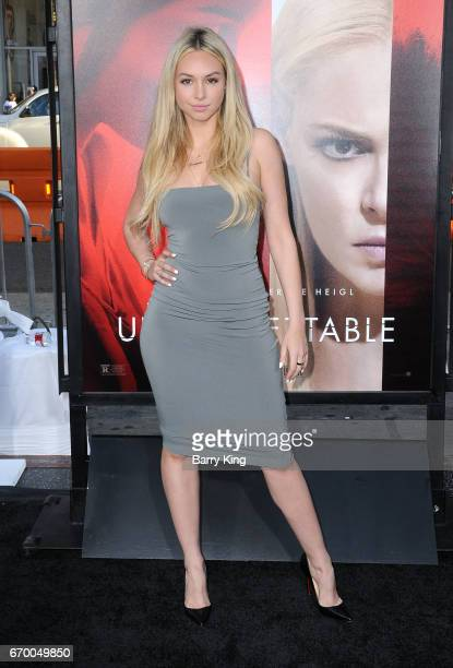 Reality television personality Corinne Olympios attends premiere of Warner Bros Pictures' 'Unforgettable' at TCL Chinese Theatre on April 18 2017 in...