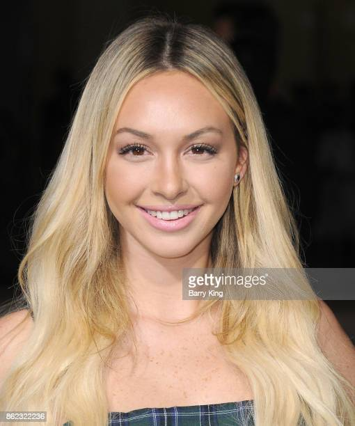 Reality television personality Corinne Olympios attends the premiere of Warner Bros Pictures' 'Geostorm' at TCL Chinese Theatre on October 16 2017 in...