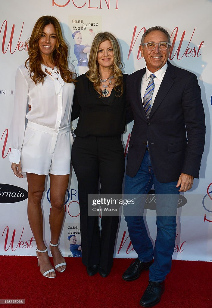 Reality television personality Kelly Bensimon, Sarah Horowitz and Ron Robinson attend the Original Scent launch at Nikki West Boutique on March 14, 2013 in Pasadena, California.