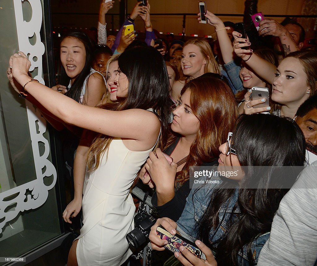 Reality television personality <a gi-track='captionPersonalityLinkClicked' href=/galleries/search?phrase=Kylie+Jenner&family=editorial&specificpeople=870409 ng-click='$event.stopPropagation()'>Kylie Jenner</a> attends the grand opening of Sugar Factory Hollywood on November 13, 2013 in Hollywood, California.