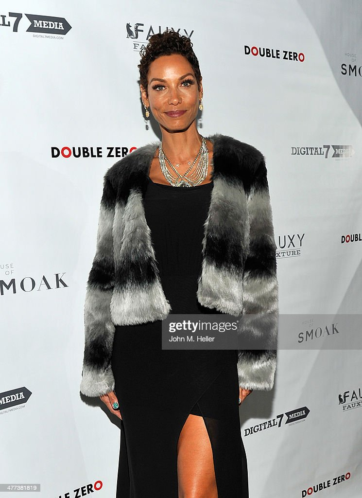 Reality TV Celebrity Nicole Murphy attends the launch of Shanna Moakler and Mayte Garcia's new clothing line Fauxy Fauxture at Bootsy Bellows on March 8, 2014 in West Hollywood, California.