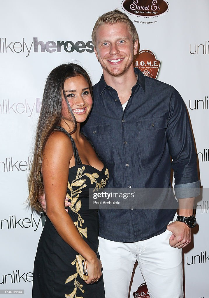 Reality TV Personalities <a gi-track='captionPersonalityLinkClicked' href=/galleries/search?phrase=Catherine+Giudici&family=editorial&specificpeople=10551820 ng-click='$event.stopPropagation()'>Catherine Giudici</a> (L) and Sean Lowe (R) attend the birthday celebration for Chelsie Hightower and Peta Murgatroyd and also supporting the 'Unlikely Heroes' charity organization on July 18, 2013 in Los Angeles, California.