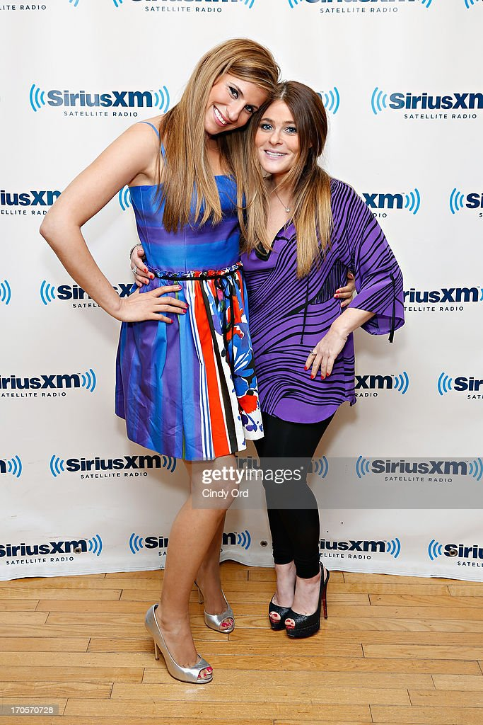 Reality TV personalities Chanel 'Coco' Omari and Ashlee White of 'The Princesses Of Long Island' visit the SiriusXM Studios on June 14, 2013 in New York City.