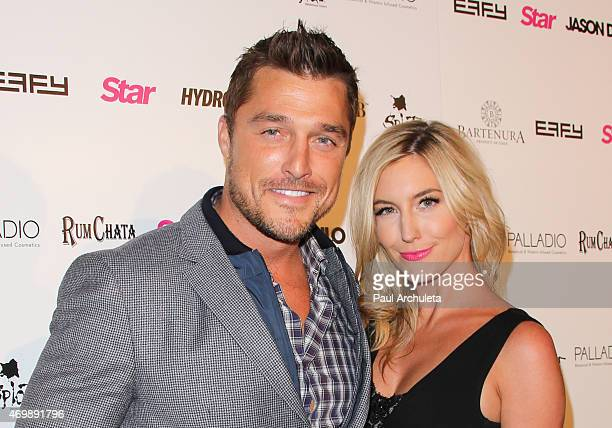 Reality TV Personalities Chris Soules and Whitney Bischoff attend the listening party for Jason Derulo's 'Everything Is 4' at The Argyle on April 15...