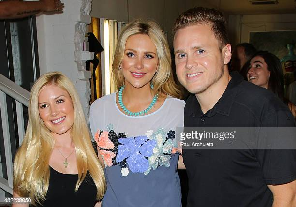 Reality TV Personalities Heidi Montag Stephanie Pratt and Spencer Pratt attend the US Launch of MeMe London at DiLascia on July 28 2015 in Los...