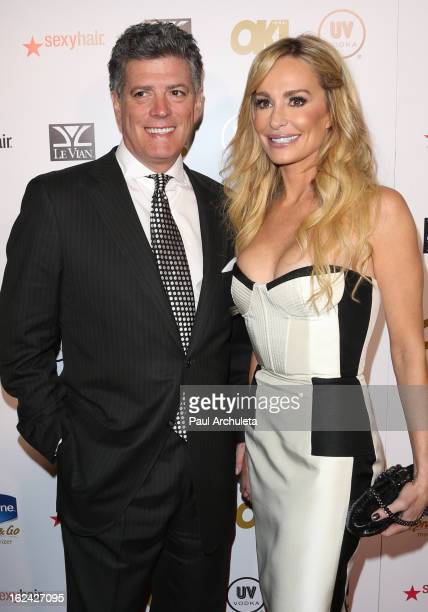 Reality TV Personalities John Bluher and Taylor Armstrong attend OK Magazine's PreOscar party at The Emerson Theatre on February 22 2013 in Hollywood...