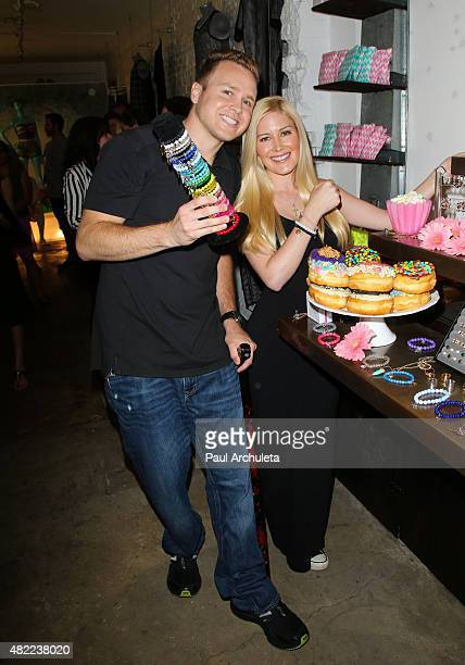 Reality TV Personalities Spencer Pratt and Heidi Montag attend the US Launch of MeMe London at DiLascia on July 28 2015 in Los Angeles California
