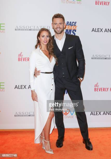 reality TV Personalities Vanessa Grimaldi and Nick Viall attend the 24th annual Race To Erase MS Gala at The Beverly Hilton Hotel on May 5 2017 in...